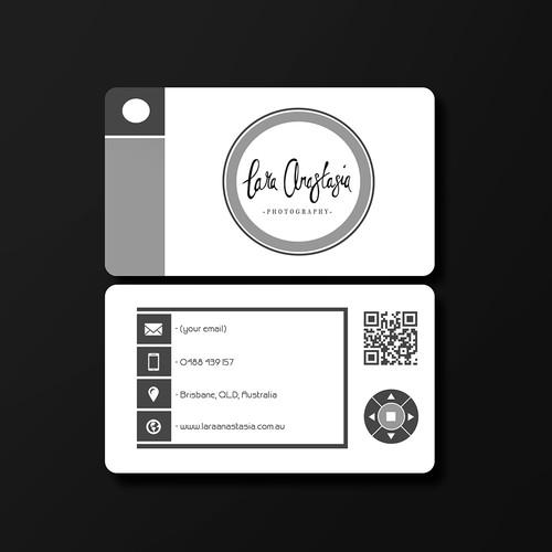 Photographer needing artsy business card