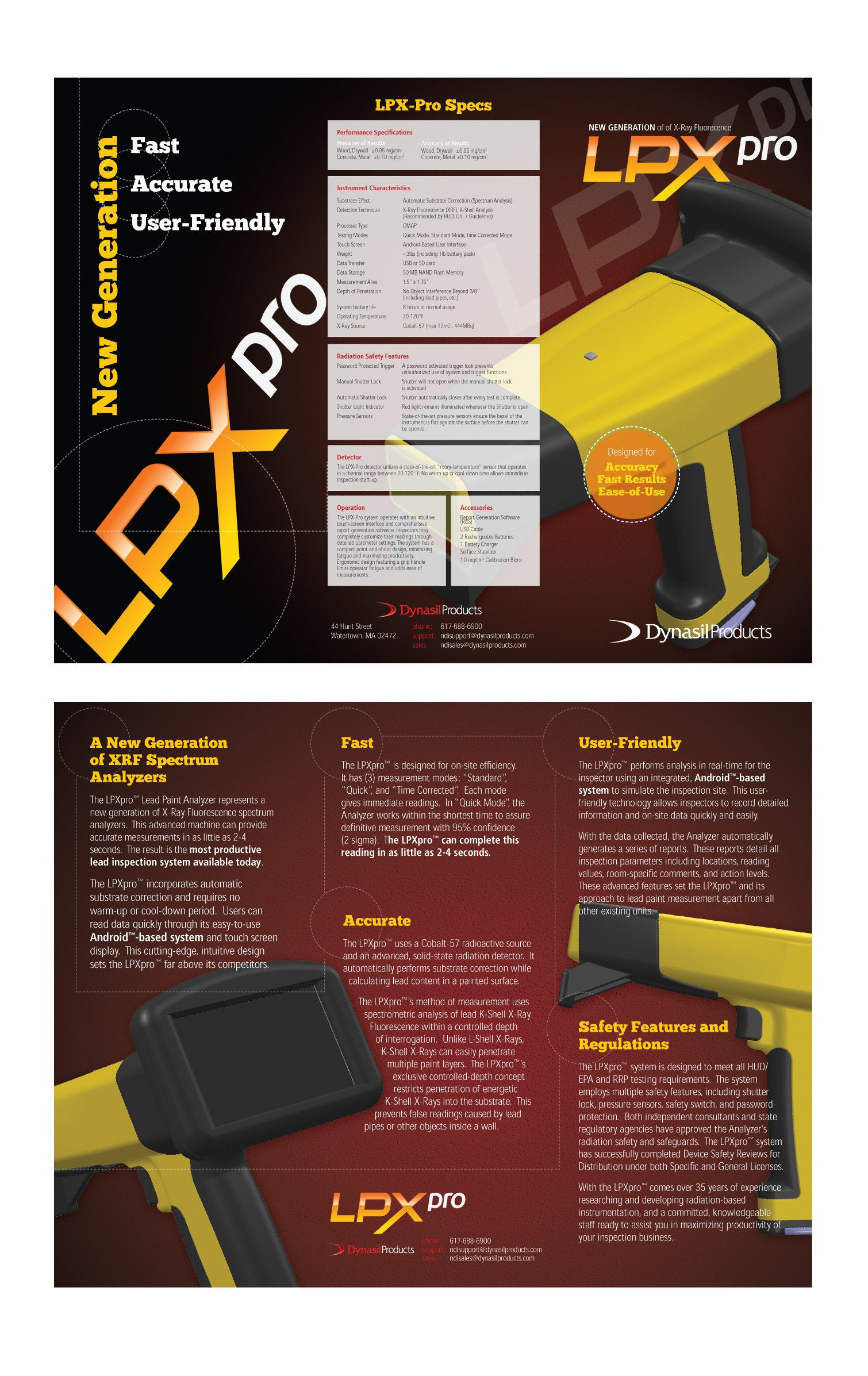 Brochure for Lead Paint Detector - BONUS $100 extra to winner!