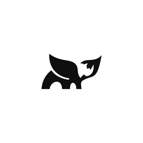 Captivating logo Flying Rhino
