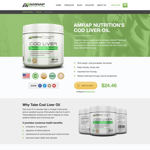 Product page redesign