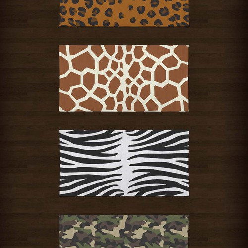 safari collection terry towel
