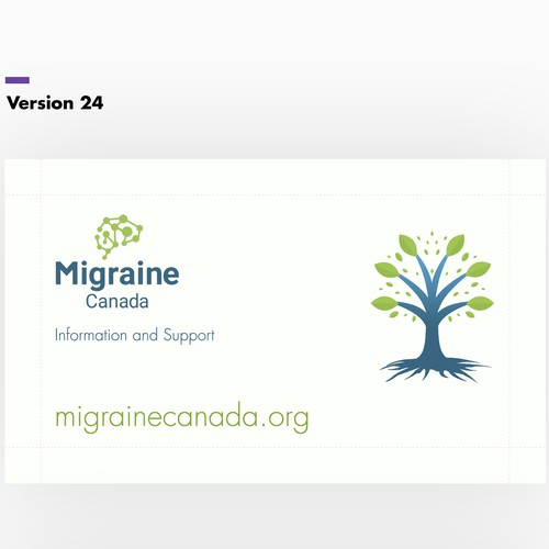 Business Card Design for Migraine Tracker Canada