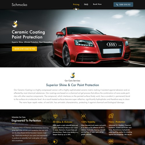 Online Car Cleaning booking page - Schmicko.com.au