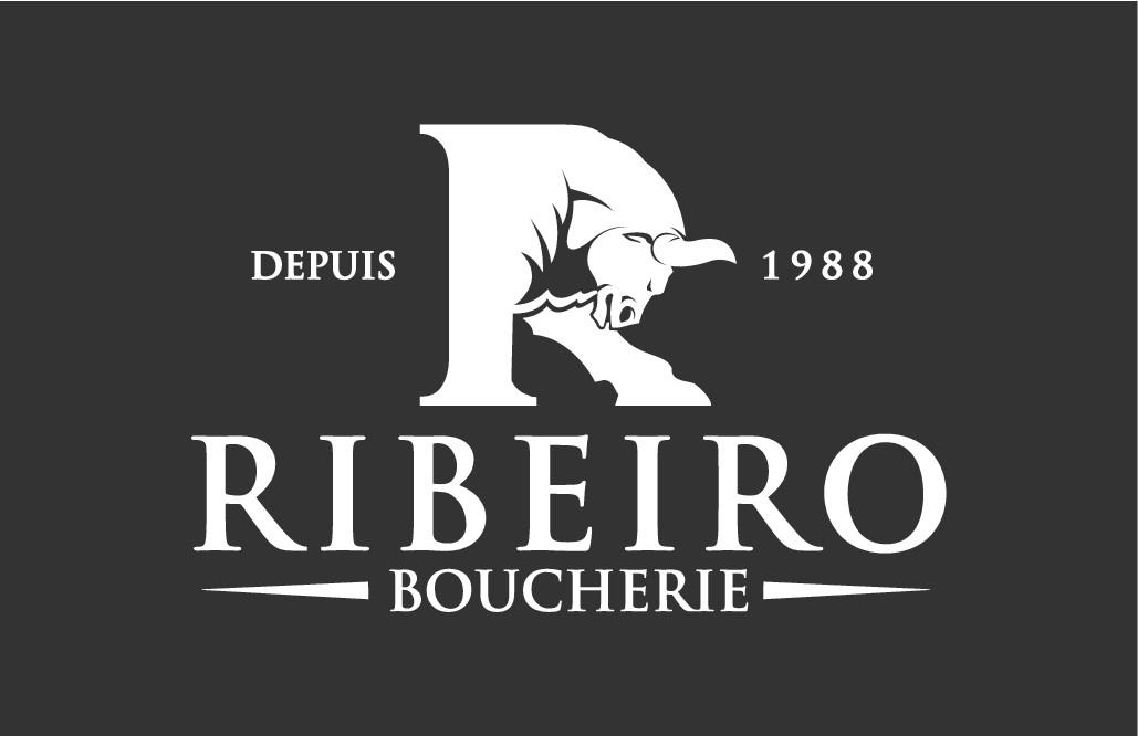 Création logo moderne pour boucherie Ribeiro