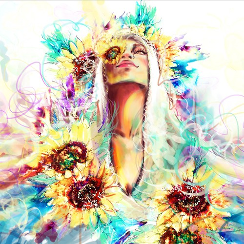 Artistic facebook cover - Mama J