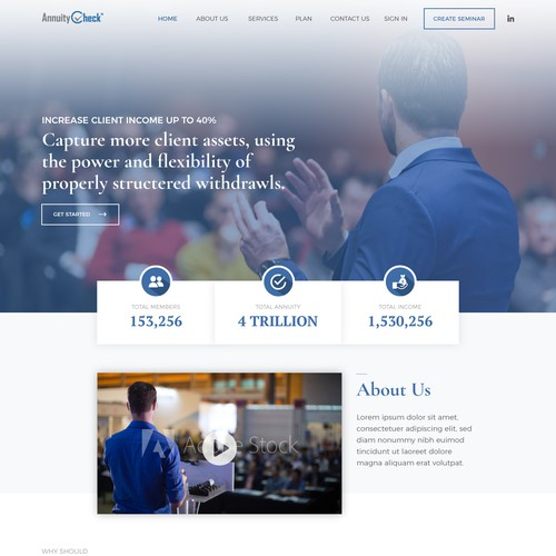 Homepage Concept for AnnuityCheck