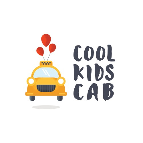Logo for a kids taxi company