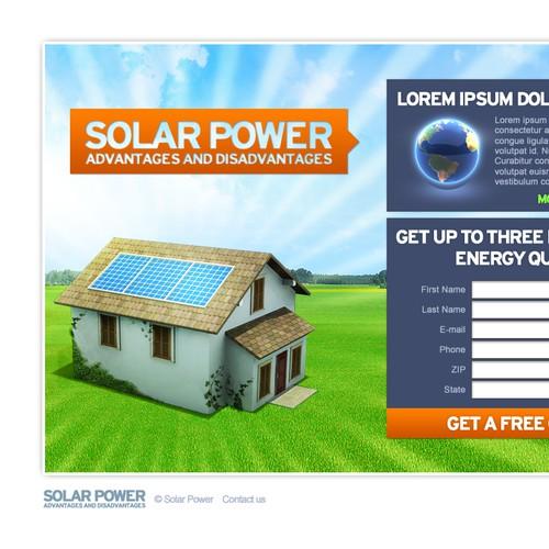 Solar Energy Landing Page