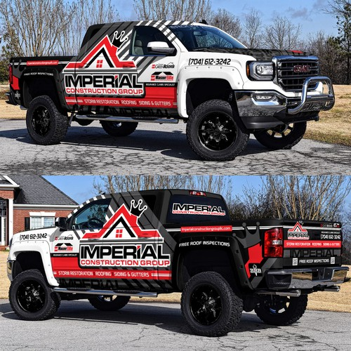 Roofing Company Awesome Truck Wrap