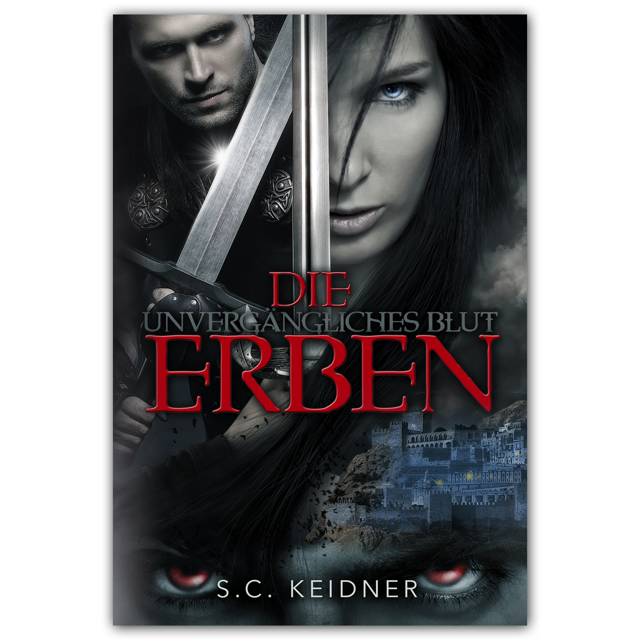 """ebook and print cover for part 3 of unvergängliches Blut. """"Die Erben""""."""
