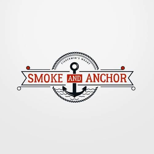 Smoke and Anchor Floating Restaurant Logo