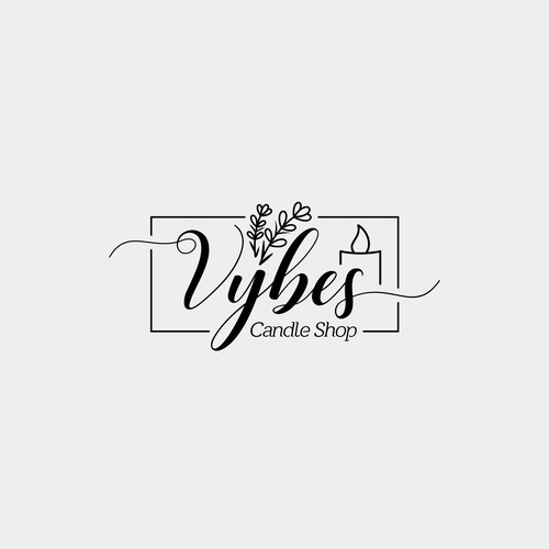 Feminine Logo for Candle Shop