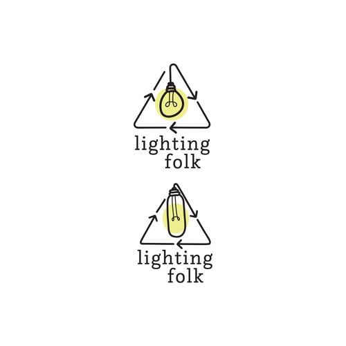 winning logo for startup company, 'Lighting Folk'