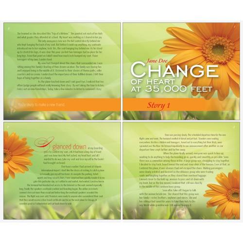 Interior Book Design (4 page spread) for New Women's Devotional