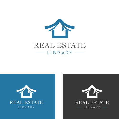 Logo proposal for a Real estate Library