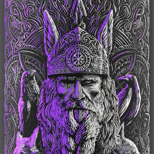 Odin's Potion | Mead Label design