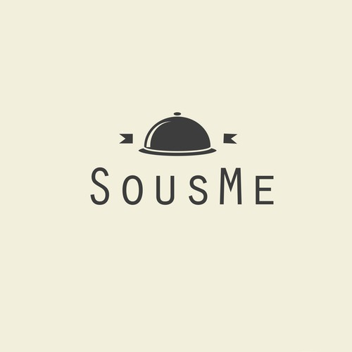 Create a logo for SousMe.xyz, the site that brings gourmet food experts to your kitchen