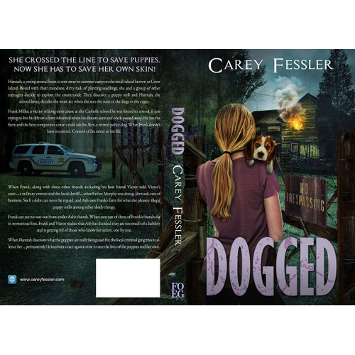 Book cover for novel Dogged by Carey Fessler