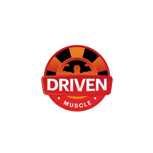 badges logo concept for driven muscle