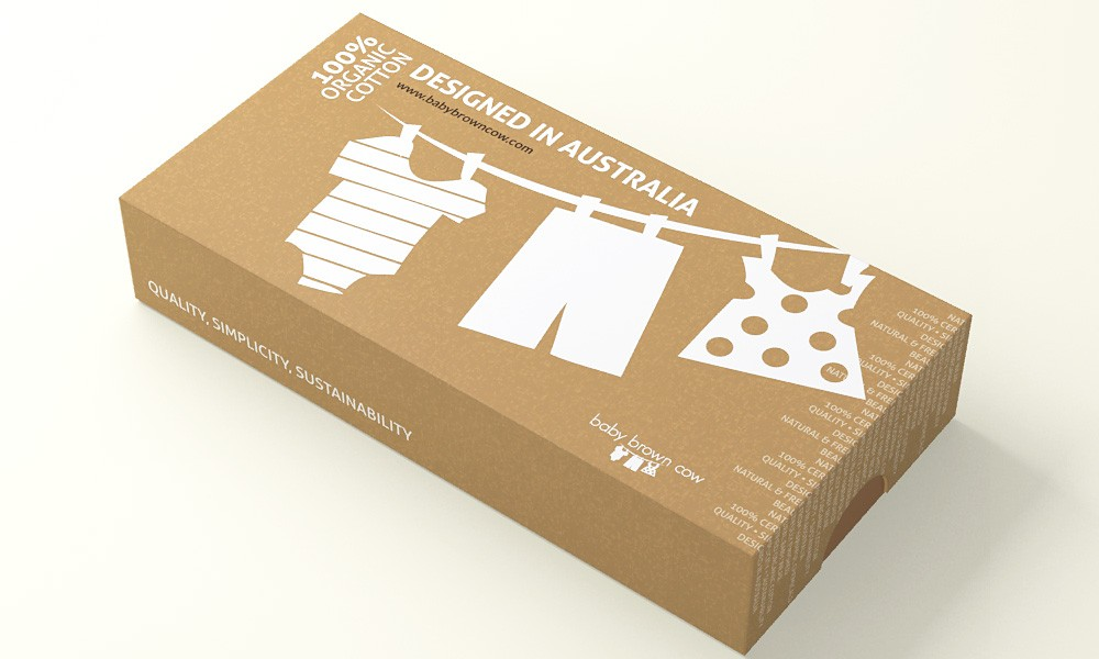 100% Organic Baby Clothing Business Needs a Packaging Design