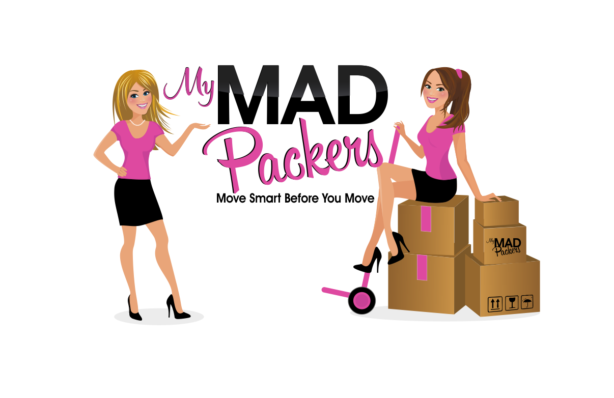 Create 2 girl characters, blond & brunette for My MAD Packers packing company