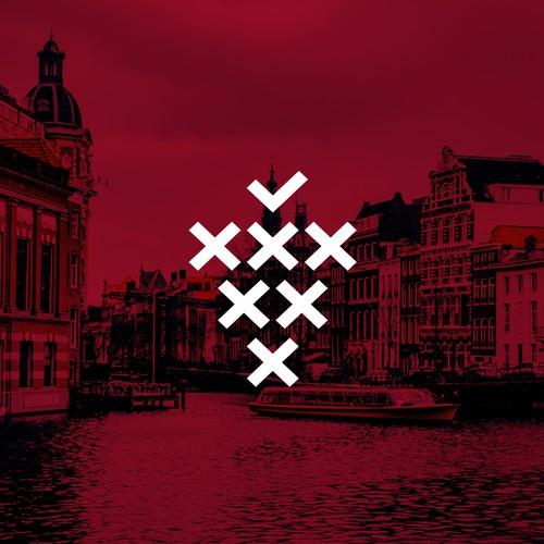 Logo design for AMSTERDAM WINE WEEK FESTIVAL