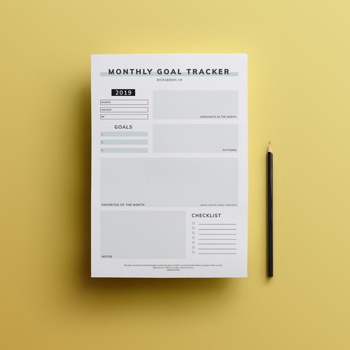 Simple Google Doc Template for Personal Goal Tracking Contest Entry