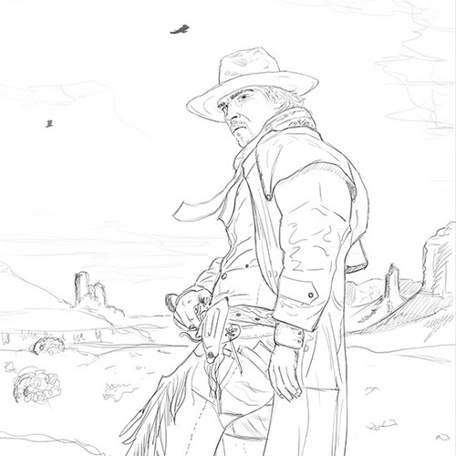 Sketch for book cover