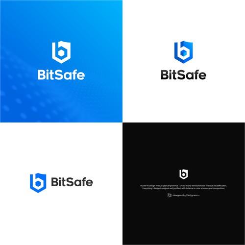 Bold sleek logo fot Crypto Currency
