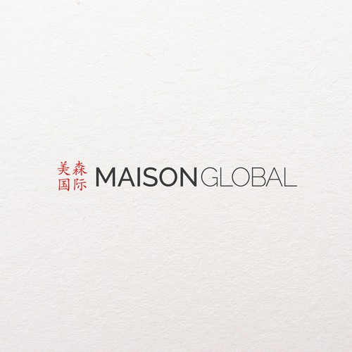 simple logo for maison global
