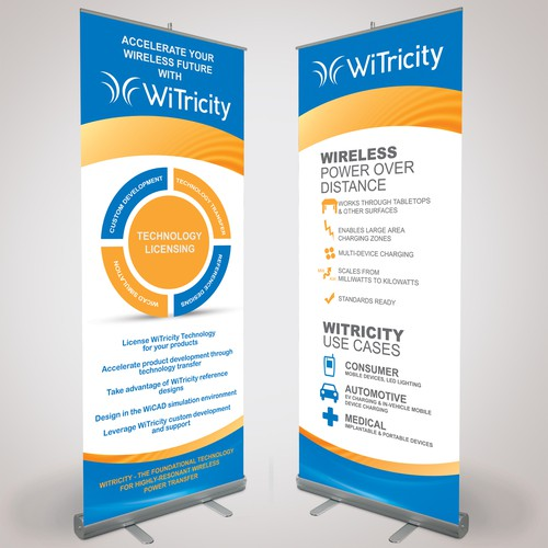 Create a sign design and two signs based on our new logo