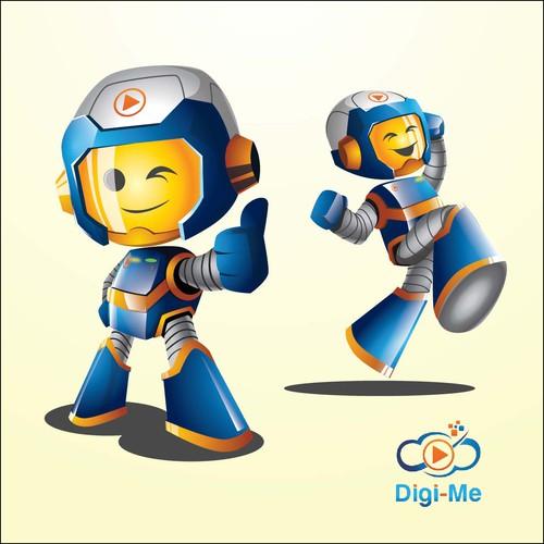 character for Digi-me's logo