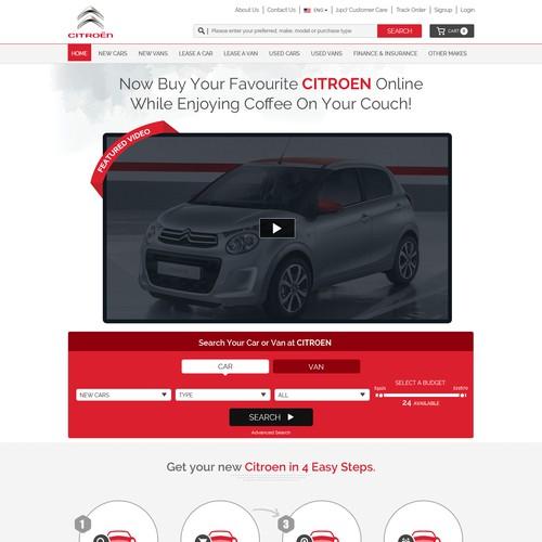 Design the webpage www.CitroenOnline.com