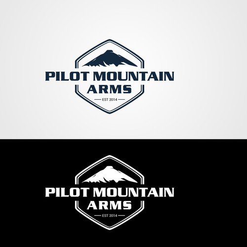 Pilot Mountain Arms logo design