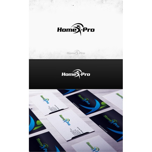 Create a logo for a medical app/program that expresses health, wellness, and exercise for HomeX-Pro