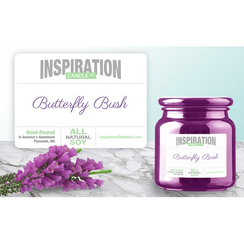 Label for candles company