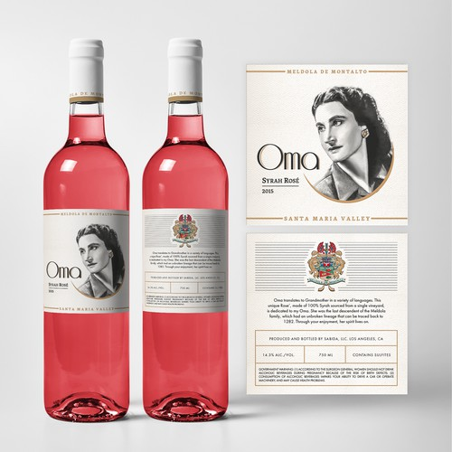 Wine label. The First in a New Series of Wines.