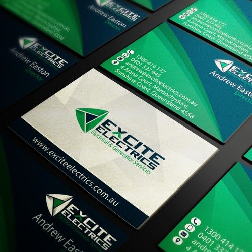 Business Card Design for Australian Electrics CO