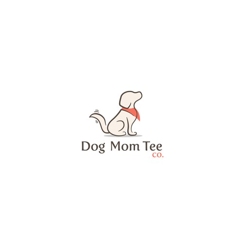 Simple and elegant dog logo for apparel company