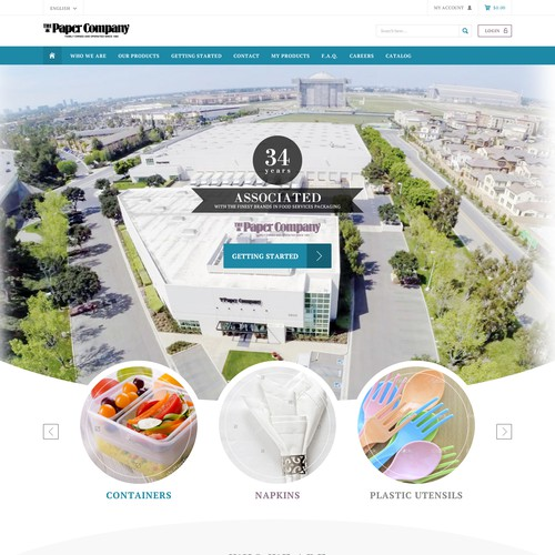 eCommerce website for a food service supply distributor