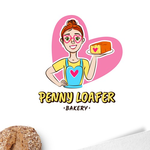 Delicious logo for awesome woman.