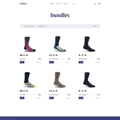 Custom Sock Interactive Website Redesign / catalog
