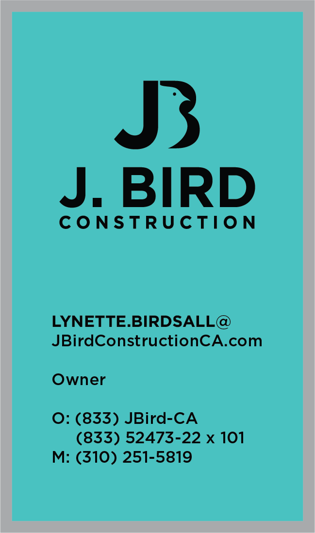 J. Bird Construction Business Card