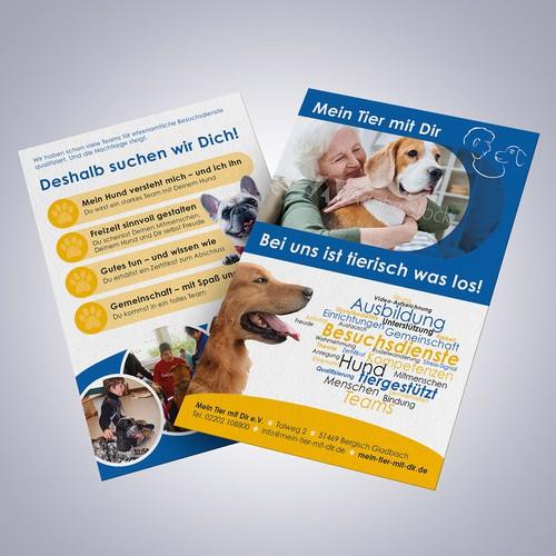 Flyer for a dog club