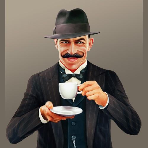 Coffee Main Character/Mascot design for branding