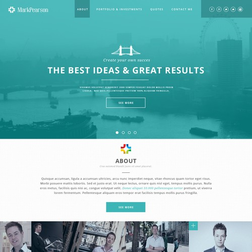 Personal Website Design Needed for Entrepreneur
