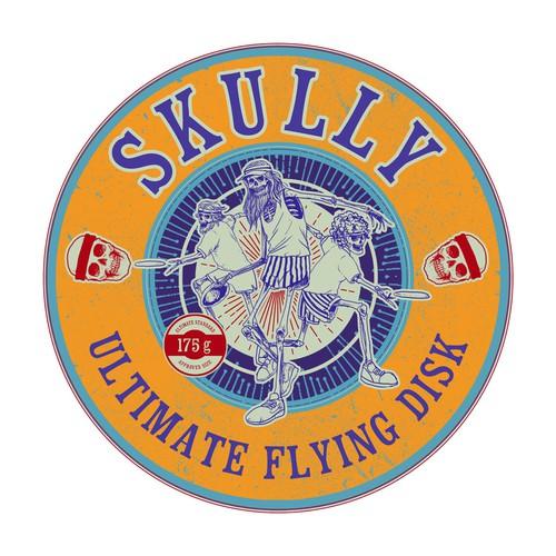 epic skull frisbee