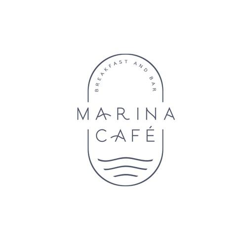 Marina Café logo proposal