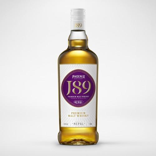 Elegant Whisky label