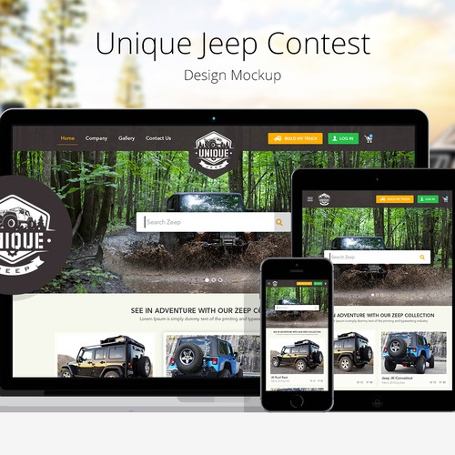 Website Design for Unique Jeep